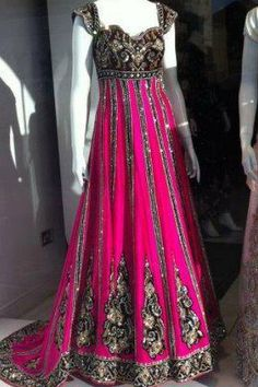 Pink and Brown Bridal Couture Wear - Modern Fashion