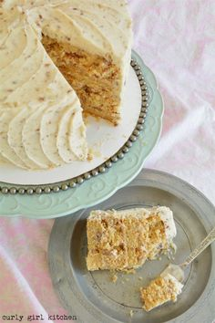 Brown Butter Pecan Cake - Curly Girl Kitchen