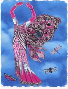 Pink Butterfly dress for Frog Princess