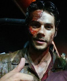 Dylan O´Brien - From the set of of the movie Deepwater Horizon, hope they don't kill him but I am worried!