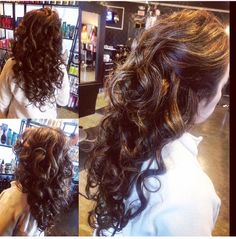 Curls for days on this long-locked client! Lucky!