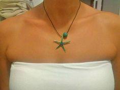 Starfish Essential Oil Diffuser Necklace hippie jewelry Lava