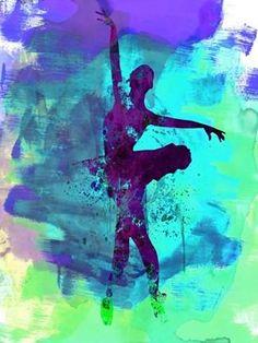 Ballerina Watercolor 4B Poster Print by Irina March
