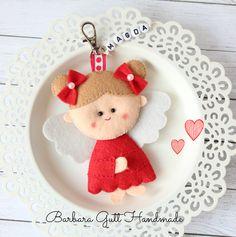 Barbara Handmade...: aniołek z filcu