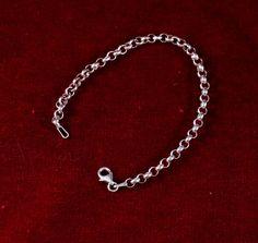 Vintage Sterling Silver Belcher Chain Bracelet