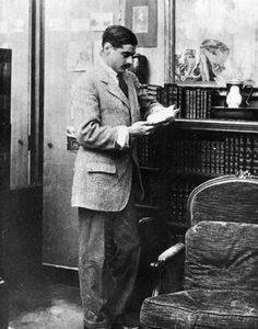 Boy Capel, the man Coco Chanel deeply loved. He is seen reading in his appartment (1911). Died in an accident.