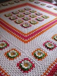 Queen size flower blanket ~~ no pattern, but I can do this by looking at picture. Crochet Bedspread, Crochet Tablecloth, Crochet Blanket Patterns, Baby Blanket Crochet, Crochet Baby, Knit Crochet, Crochet Blankets, Crochet Home, Love Crochet