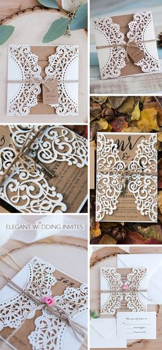 gorgeous rustic wedding invitation with twines and keys tags lovely flower Wedding Invitation Trends, Bachelorette Invitations, Wedding Invitation Inspiration, Laser Cut Wedding Invitations, Engagement Party Invitations, Rustic Invitations, Wedding Stationery, Rustic Save The Dates, Rustic Wedding