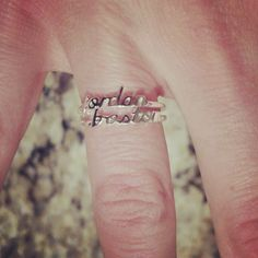 Name rings! Hubby and kids.