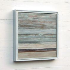 Reserved for Stephanie, Reclaimed Wood Art, 16 x 16, Distressed Minimalist Abstract. $150.00, via Etsy.