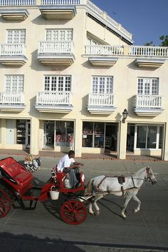 Cartagena, Colombia  We did one of these rides when we were there, I think that was our driver!:)