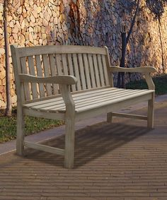 Look what I found on #zulily! Natural Acacia Hardwood Renaissance Outdoor Bench by VIFAH #zulilyfinds