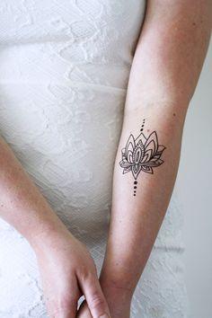 Lotus temporary tattoo - a temporary tattoo by Tattoorary
