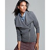 C by Bloomingdale's Cashmere Moto Jacket