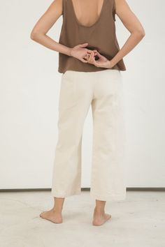Clyde Culotte in Cotton Canvas