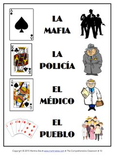 Play MAFIA in language classes to provide comprehensible input! Spanish Vocabulary Games, Spanish Games, Spanish Teaching Resources, Spanish Activities, Class Activities, Grammar Games, Spanish Lessons For Kids, Spanish Basics, Mafia Game