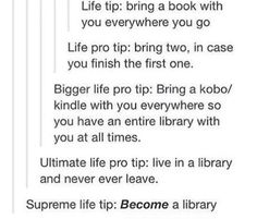 Life tips for book lovers