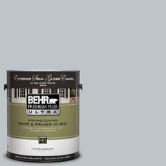 BEHR Premium Plus Ultra 1-Gal. #UL220-9 Misty Morn Semi-Gloss Enamel Exterior Paint