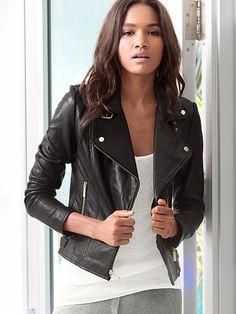 Leather Moto Jacket, Victoria Secret