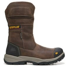Caterpillar Men's Jenka Waterproof Composite Toe Slip Resistant Boots Clay  Leather