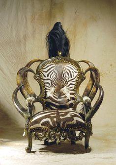 horn & zebra chair