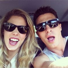 Arrow - {Emton} Emily Bett Rickards & Colton Haynes Because they came up with a ship name for the two of them - Page 8 Emily Rickards, Arrow Cast, Arrow Tv, Supergirl Dc, Supergirl And Flash, Teen Wolf, Dc Tv Shows, Team Arrow, Colton Haynes