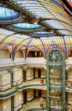 detalle-constructivo:  El Gran Hotel de la Ciudad de México, de losúltimosestilo Art Nouveau