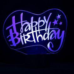 Happy Birthday sign 3D LED Lamp-GoAmiroo Store #LedLamp