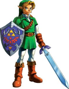 Link - Zeldapedia, the Legend of Zelda wiki - Twilight Princess, Ocarina of Time, Skyward Sword, and more, Link Artwork 1 (Ocarina of Time).png