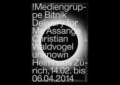 Helmhaus Zürich Exhibition Identity, 2014 : Kasper Florio