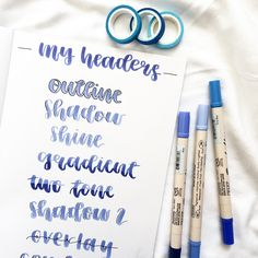 Headers you can use in your bullet journal lettering Bullet Journal Headings, Bullet Journal Headers And Banners, Bullet Journal Lettering Ideas, Bullet Journal Inspo, Bullet Journal Ideas Pages, Journal Pages, Bullet Journals, Cool Lettering, Types Of Lettering