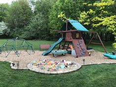 If you intend to keep a kids playground set for a long time, be certain to regularly make checks for broken or missing components. Additionally, any kids playground set that looks like it might… Kids Outdoor Play, Outdoor Play Areas, Kids Play Area, Backyard For Kids, Outdoor Fun, Nice Backyard, Indoor Play, Backyard Ideas, Toddler Playground