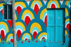 boa mistura rejuvinate mexican neighborhood with otomi art via designboom Jig Saw, Mural Art, Wall Art, Street Art, School Murals, Mexican Art, Public Art, The Neighbourhood, Graffiti