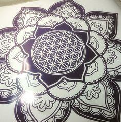 FLOWER OF LIFE Mandala flower Wall Decal Flower namaste Vinyl Sticker Art Decor Bedroom Design Mural flower Buddha namaste yoga living room                                                                                                                                                                                 Mehr