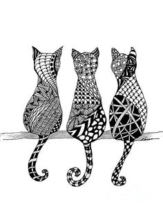 The Cat's Meow Print by Nan Wright