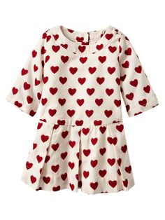 Baby Gap | Pleated heart dress for Valentines Day