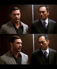 "tomhardyvariations: "" Eames has sexual chemistry with everyone….! I like that their eyebrows furrow in almost the exact same way and that Saito can't resist checking out Eames' assets. """