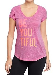 Cute Womens Active Graphic Tee -  Be You Tiful - need this while working out - the power of positive thinking!  #getactivewithON