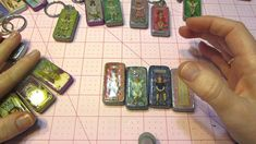 Altered Domino Keychains