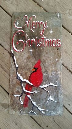 51 super ideas for vintage art ideas paint canvases Christmas Canvas, Christmas Paintings, Rustic Christmas, Christmas Art, Christmas Projects, Winter Christmas, All Things Christmas, Christmas Ornaments, Cardinal Christmas Decor