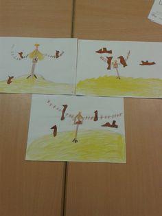 Tekenles over vogels in de winter. (groep 4)  Tekenen van een voederhuisje, tekenen van de vogels op gekleurd papier, vogels uitknippen en op de tekening plakken.