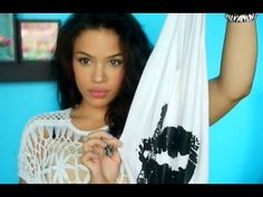 DIY ♡ Hobo Bag (no cutting required) - AndreasChoice this is actually pretty cool