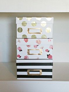 Kate Spade Inspired Storage Boxes