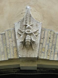 Bee archectectural detail in Rome, Italy