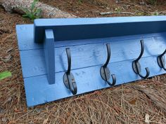 Primitive Country Decor Coat Rack Made From by CoastalOakDesigns