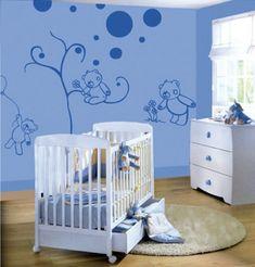 farbideen wohnzimmer babyzimmer wandtattoo