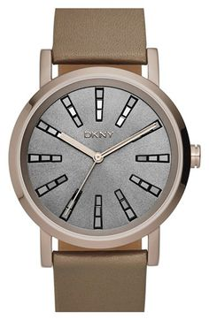 DKNY 'Soho' Leather Strap Watch,38mm available at #Nordstrom