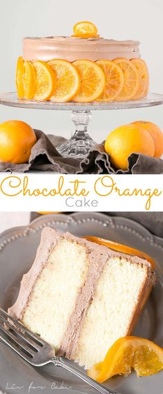 Chocolate Orange Cake! Orange infused cake layers with a silky chocolate buttercream. | livforcake.com via @livforcake