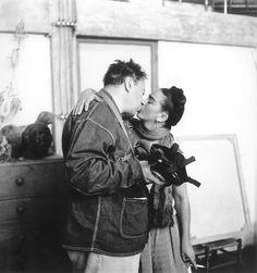 Frida Kahlo & Diego Rivera by Nickolas Muray, 1939 Frida E Diego, Frida Kahlo Diego Rivera, Jean Tinguely, Lee Miller, Man Ray, Camille Claudel, History Memes, Art History, History Projects