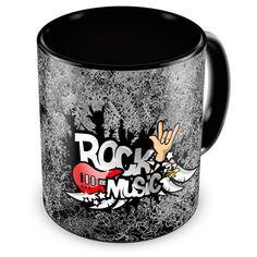 Caneca Porcelana Personalizada Rock Music